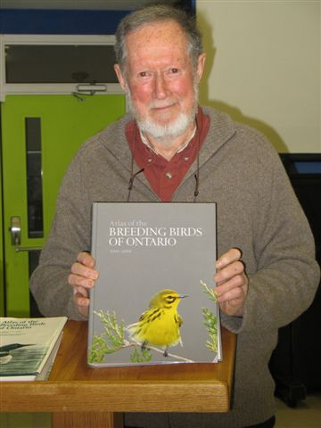 Cliff Bennett with new Atlas of the Breeding Birds of Ontario