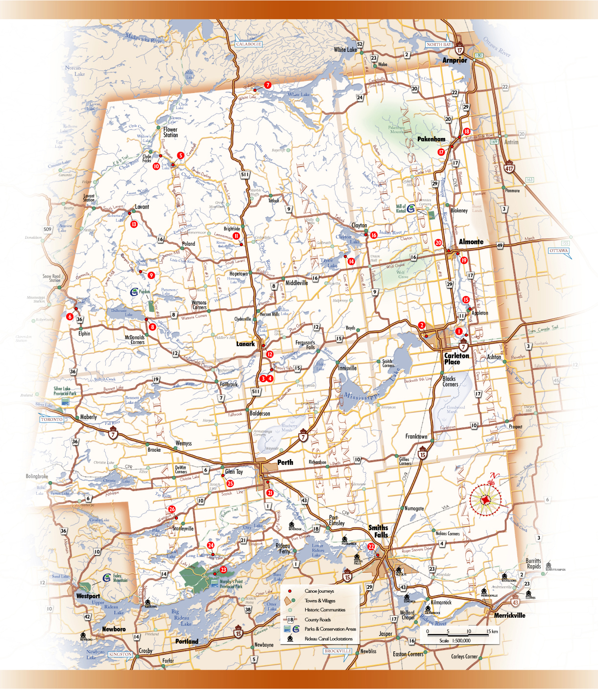 Maps Ontario Counties Ontario County Road Map