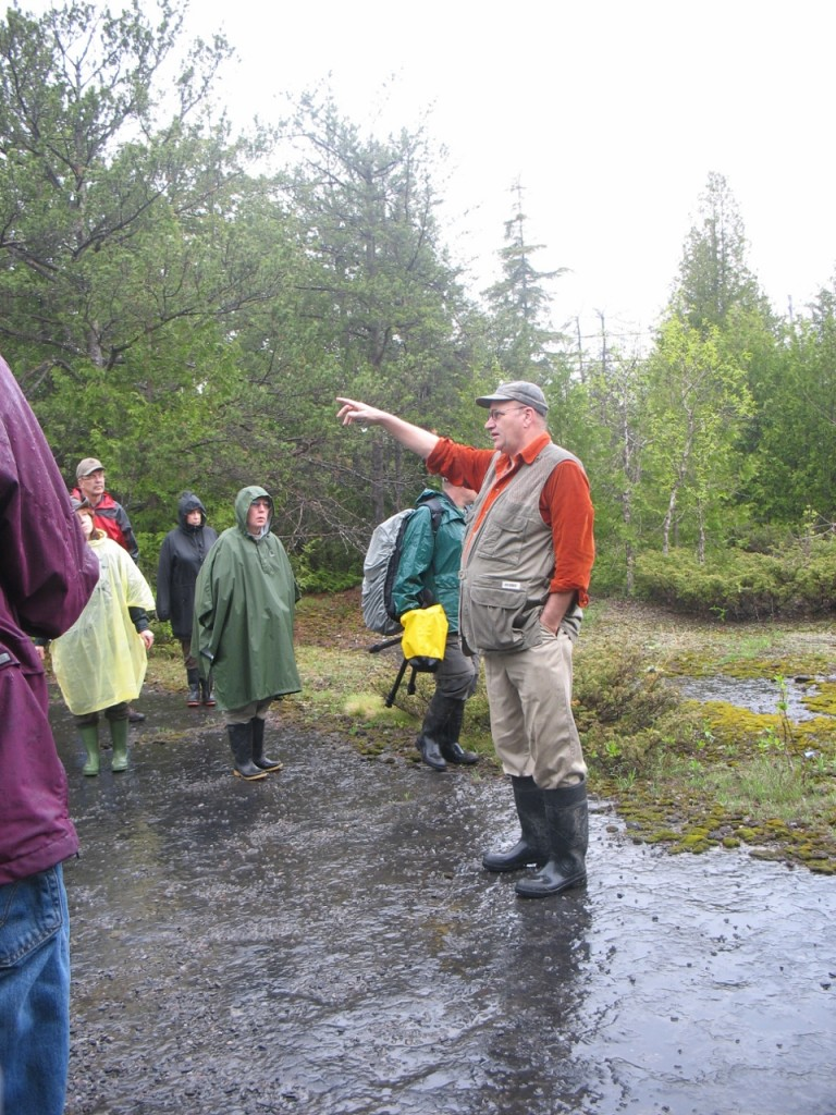 May 2009-2 Alvar Walk led by Paul Catling (orange shirt). Photo Pauline Donaldson