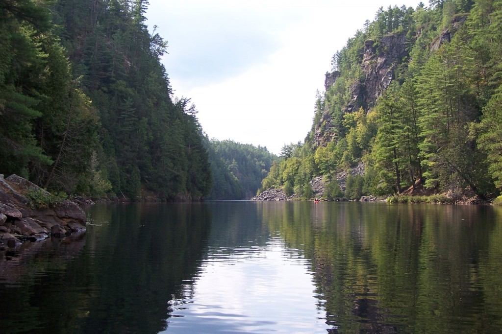 The magnificent Barron River Canyon near Achray Campgrounds in Algonquin Park. photo Brenda Boyd