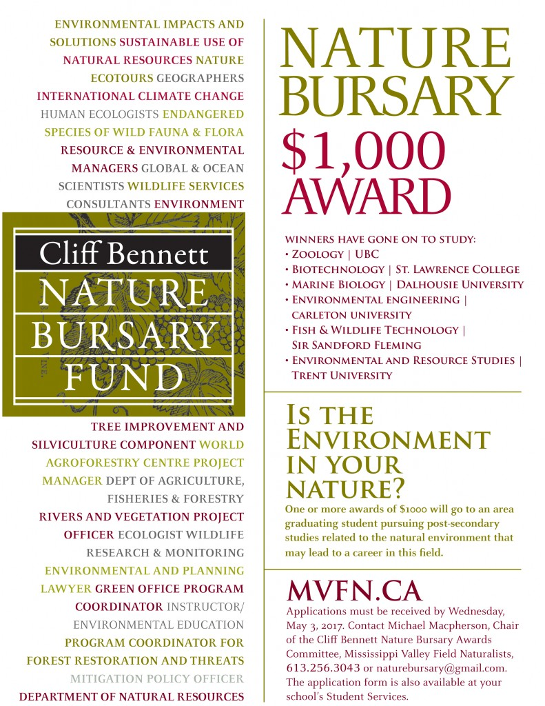 2017 Nature Bursary Poster