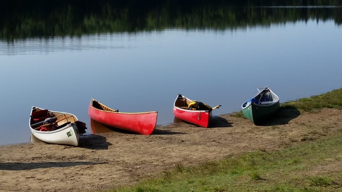 Canoes at rest. photo Pam Hickman